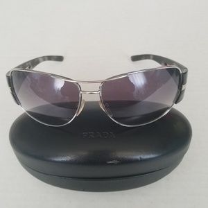 Prada Grey SPR69H 1BC-3M1 Sunglasses